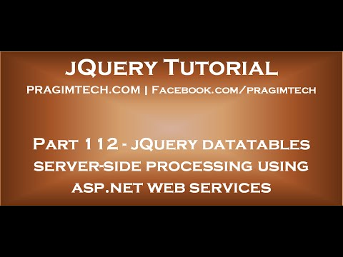 jQuery datatables server side processing using asp net web services