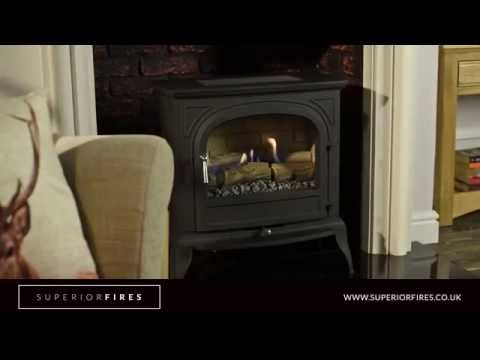 Superior Fires - Hambleton Black High Efficiency Flueless Gas Stove