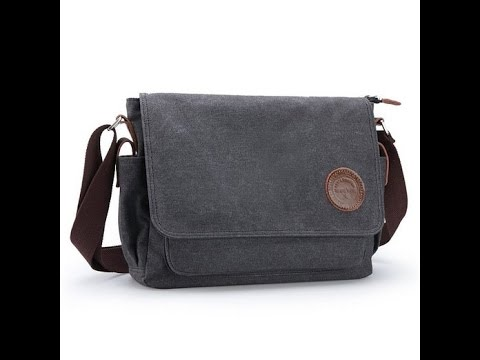Ibagbar Muzee Vintage Canvas Laptop Messenger Bag Review
