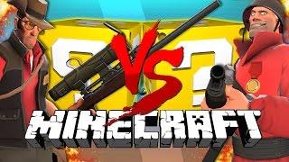 Minecraft: TEAM FORTRESS 2 LUCKY BLOCK CHALLENGE   Turret Destruction!