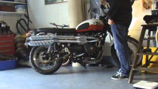 2. Triumph Scrambler 900 TOR Off Road Exhaust Pipe Sound