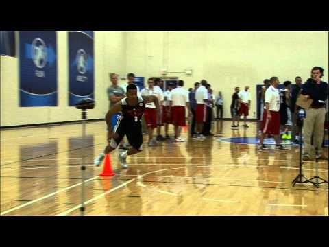 Trey Burke at the NBA Draft Combine 2013_Kosrlabda legjobb videk. Sport of USA