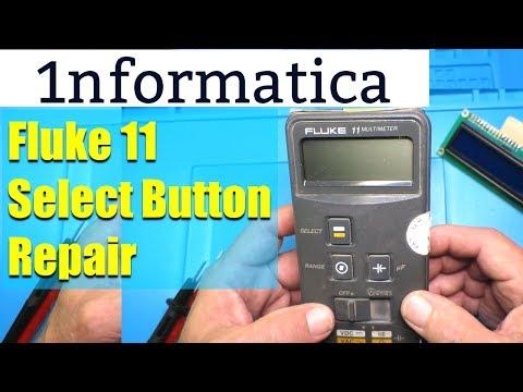 Fluke 11 Multimeter Range Select Switch Fix Elastomer Replacement - Electronic Repair