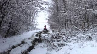 10. Fun in the mud (ArcticCat 400 TRV)