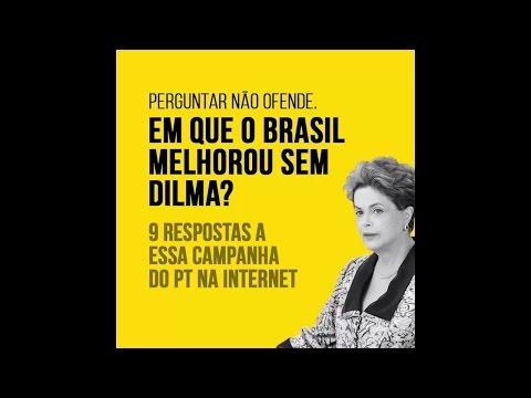 Responder não ofende em que o Brasil melhorou sem Dilma