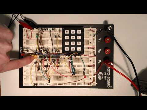 Make: Electronics – Experiment 20 (Building an electronic lock combination)