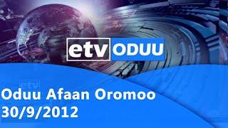 Oduu Afaan Oromoo 30/9/2012