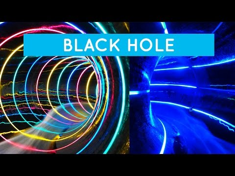 Colorful Black Hole Water Slide