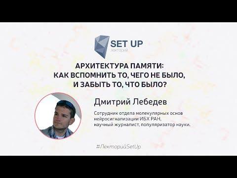 Дмитрий Лебедев — Как вспомнить то, чего не было, и забыть то, что было?