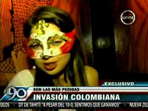 CUCARDAS - Cada vez son mas las Colombianas que vienen a peru para dedicarse a la prostitucion, dueño de las cucardas reconocio que las señoritas Colombianas son las ma...