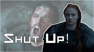 This is my Scene Breakdown for the conversation Sansa and Jon had in the war room before the battle of the bastards.With Jon being crowned king in the north his relation with Sansa grows more and more important going into season 7 so I thought it would be good to look into this scene.Free AudioBook:  http://www.audibletrial.com/kingSubscribe: http://bit.ly/1yePWnGTwitter: https://twitter.com/twkingmckayFacebook:  http://bit.ly/1AaOXTHGoogle +: http://bit.ly/1stPJxfPatreon: https://www.patreon.com/kingmckayGame of Thrones is an American fantasy drama television series created by showrunners David Benioff and D. B. Weiss. It is an adaptation of A Song of Ice and Fire, George R. R. Martin's series of fantasy novels, the first of which is titled A Game of Thrones. It is filmed in a Belfast studio and on location elsewhere in Croatia, Iceland, Malta, Morocco, Northern Ireland, Spain, Scotland, and the United States, and premiered on HBO in the United States on April 17, 2011. The series has been renewed for a sixth season, which will premiere on April 24, 2016FAIR USE NOTICEThis video may contain copyrighted material; the use of which has not been specifically authorized by the copyright owner. We are making such material available for the purposes of criticism, comment, review and news reporting which constitute the 'fair use' of any such copyrighted material as provided in the NZ Copyright Act 1994. Notwithstanding the provisions of the 42 section, the fair use of a copyrighted work for purposes such as criticism, comment, review and news reporting is not an infringement of copyright.