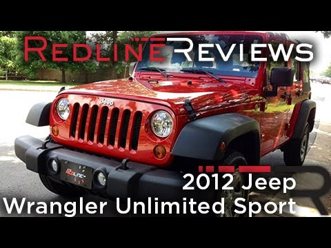 2012 Jeep Wrangler Unlimited Sport Review, Walkaround, Exhaust, & Test Drive