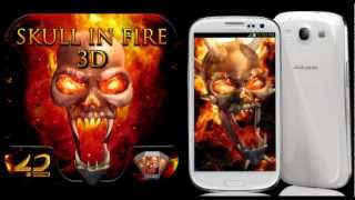Skull in Fire 3D Interactive YouTube video