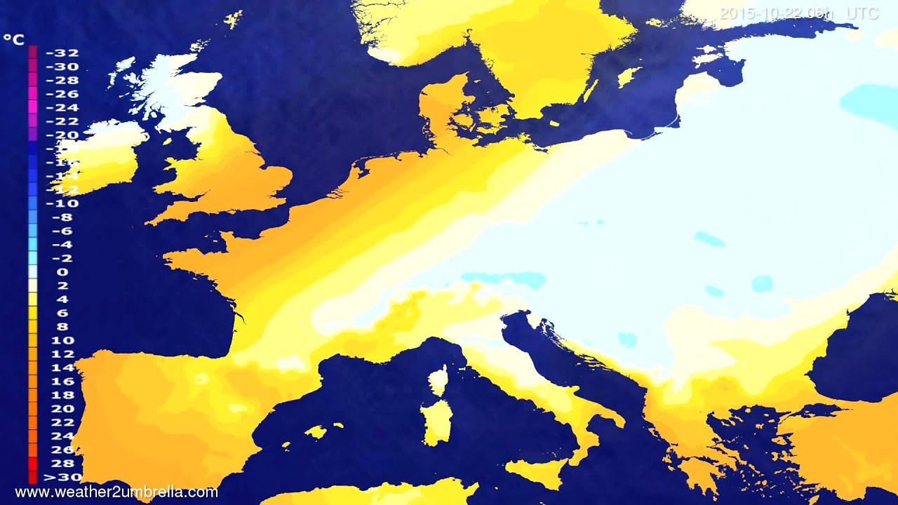 Temperature forecast Europe 2015-10-19