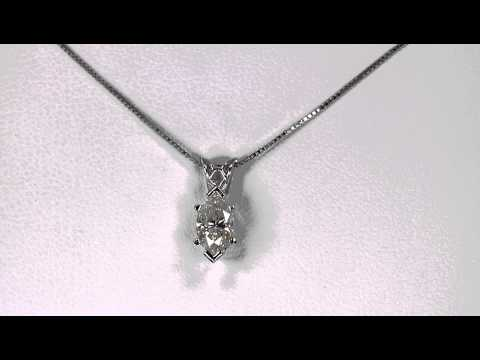 Diamond Solitare Pendant .71 Carat