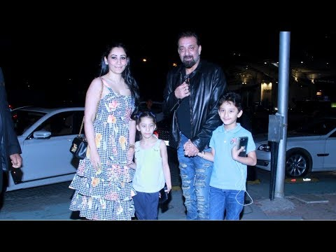 Sanjay Dutt & Manyata Celebrate Wedding Anniversary With Dinner At Yauatcha Restaurant