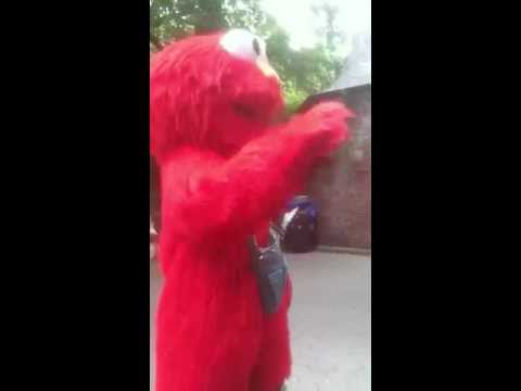 Jew hating Elmo in central park
