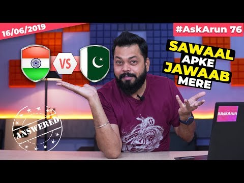 #AskArun76- Realme X Launch Date, Redmi K20 Pro Or Nubia Red Magic 3, RedmiBook India, IND Vs Pak🏏