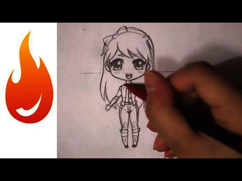 chibi - Otakufuel MangaLessons: How to Draw a Chibi Anime Girl Character. By tobi2moodring. For manga, art supplies, markers, paper stop by http://www.otakufuel.com/...