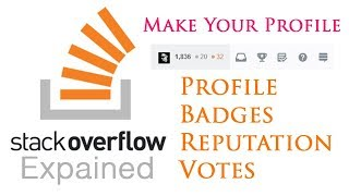 StackOverflow Explained - Profile Reputation Badges and Votes