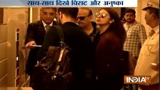 Rajkot India  city photos gallery : Virat Kohli with His Girlfriend Anushka and Team India Arrives in Rajkot for 1st Test vs England