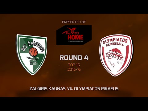 Highlights: Top 16, Round 4, Zalgiris Kaunas 75-55 Olympiacos Piraeus