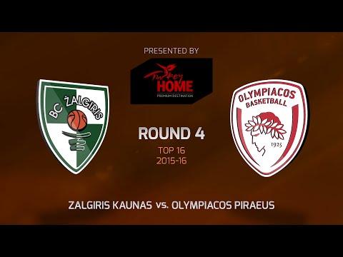 Highlights: Top 16, Round 4, Zalgiris Kaunas 75-55 Olympiacos Piraeus