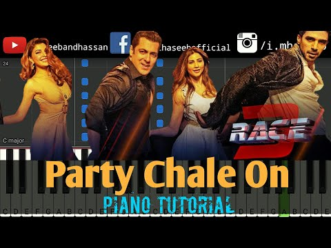 Party Chale On Race 3 Piano Tutorial | Salman Khan, | Jacqueline  | Free Midi | Haseeb and Hassan