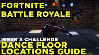 Dance on 3 Dance Floors: CHALLENGE GUIDE — Fortnite Battle Royale, Week 8