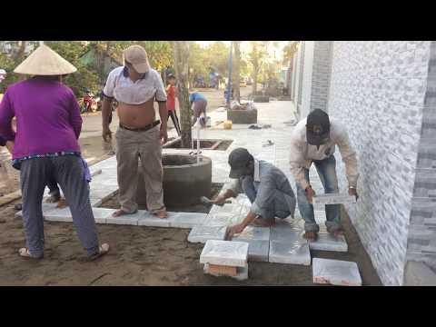 Bàn giao gạch lát vỉa hè - Gạch chèn ziczac - Gạch con sâu tại công trình | www.gachlatviahe.com.vn