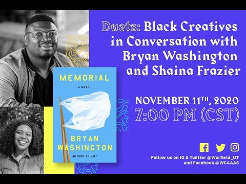 Duets: Black Creatives in Conversation with Bryan Washington and Shaina Frazier