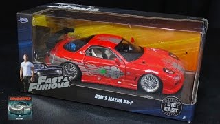 Nonton Dom's Mazda RX-7 - The Fast and the Furious - Jada Toys 1:24 Model Car Unboxing Film Subtitle Indonesia Streaming Movie Download