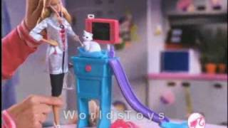 2010 º Barbie I Can Be... Kitty Care Vet Doll commercial :HQ: