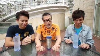 詹瑞文挑戰人體花式:噴水牙!Jim Chim human challenge: Water Jet!