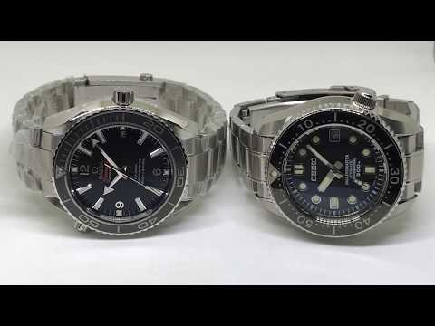 Omega Seamaster Planet Ocean Ceramic 42mm Vs Seiko Marine Master SBDX017 MM300 Comparison (HD 1080P)