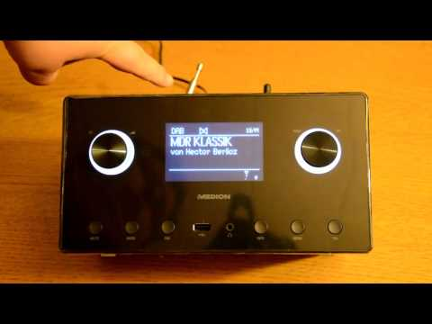 Medion MD87385 WLAN DAB FM Internetradio - Live Test  ...