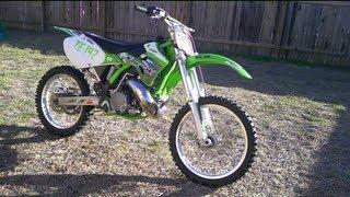 7. KX 250 1999 Kawasaki Motocross Walk Around and Test Drive FMF Gnarly, Wiseco Forged Piston & Crank.