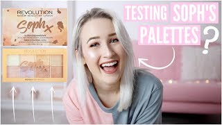 Video TESTING SOPH X MAKEUP REVOLUTION PALETTES | Sophie Louise MP3, 3GP, MP4, WEBM, AVI, FLV Januari 2018