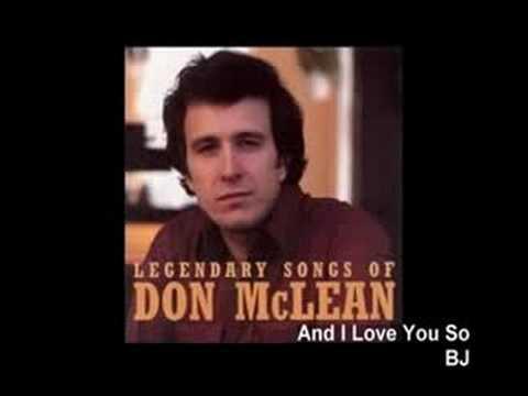 Tekst piosenki Don McLean - And I Love You So po polsku
