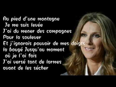 Celine Dion -  Ma Force - ( Lyrics )