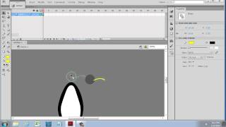 How to Draw a Cartoon Penguin in Flash CS6 - for Beginners