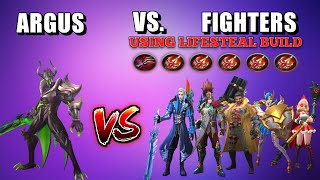 Video ARGUS VS. 5 FIGHTERS WITH FULL LIFESTEAL BUILD | WHO WILL WIN? | MOBILE LEGENDS MP3, 3GP, MP4, WEBM, AVI, FLV Oktober 2017