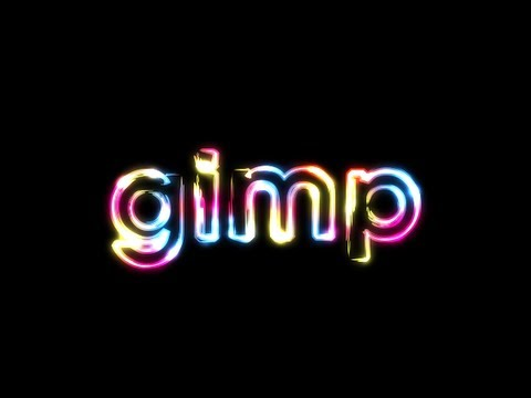 GIMP Tutorial: Super Glowy Rainbow Text Effect