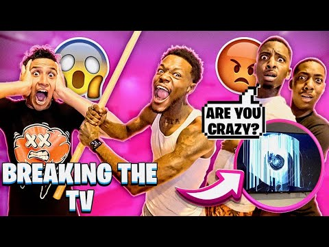 I CAME TO FUNNYMIKE HOUSE AND BROKE HIS TV!!!