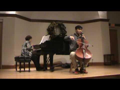 Justin Zhou plays Elgar's Concerto in E minor Opus 85 1st mvt