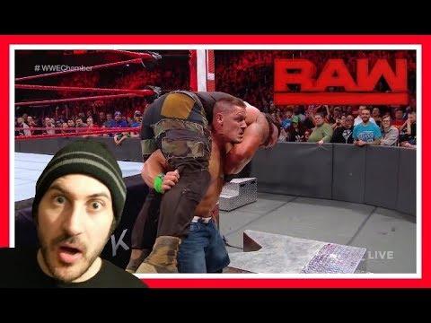 Reaction | Braun Strowman vs John Cena vs Elias!!! Winner Enters Elimination Chamber last (WWE RAW)