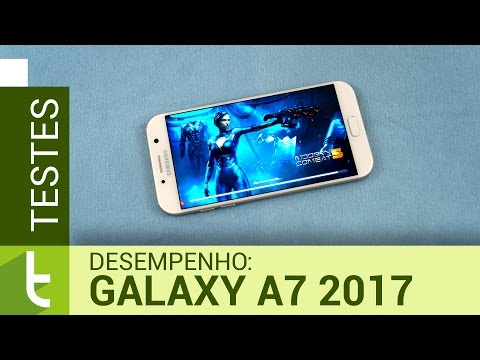 Desempenho do Galaxy A7 2017  Teste de velocidade oficial do TudoCelular