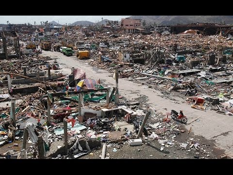 ASIA - PHILIPPINES Apocalyptic TYPHOON  23 ft SURGE 10,300 Dead; Cities Destrd; Ships Inland;