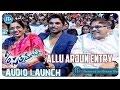 Allu Arjun Dynamic Entry | S/o Satyamurthy Movie Audio Launch | Samantha | Trivikram