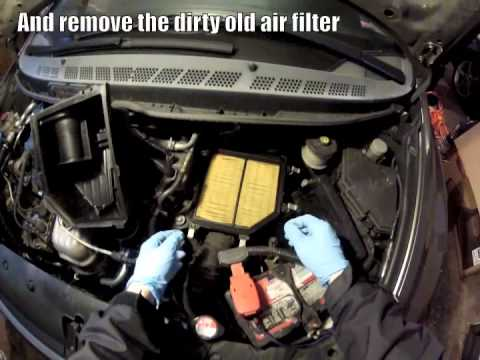 DIY: Replace Engine Air Filter in an 8th Generation Honda Civic (1.8L)